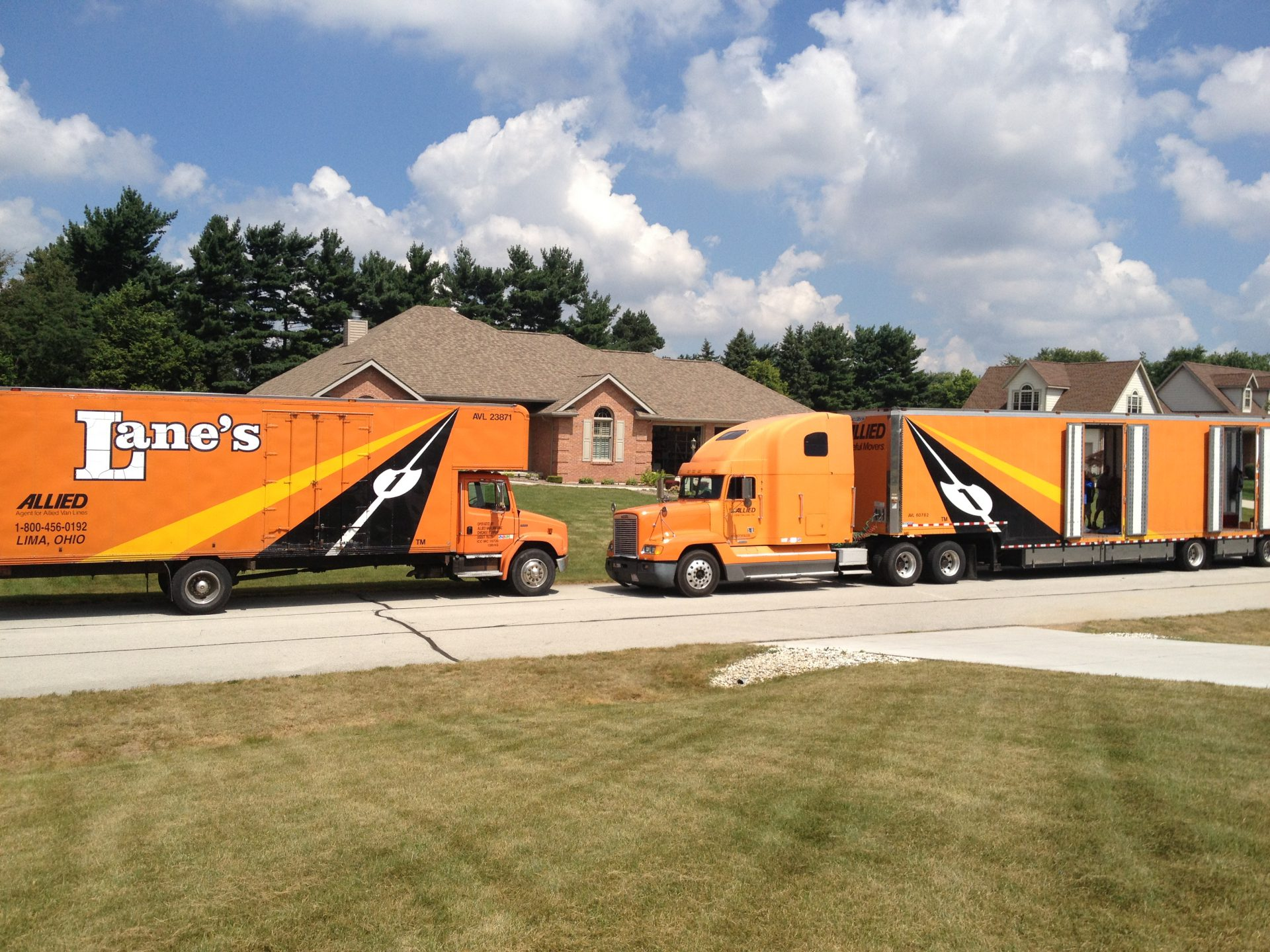 Interstate moving services